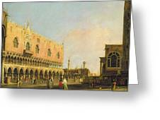 View Of The Piazzetta San Marco Looking South Greeting Card by Canaletto