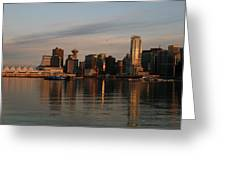 View Of The Waterfront And Downtown Greeting Card by Darlyne A. Murawski