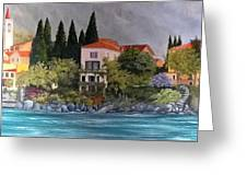 View Of Varenna Greeting Card by Linda Scott