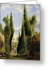Villa D'este Tivoli Greeting Card by William Collins