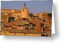 Village De Roussillon. Luberon Greeting Card by Bernard Jaubert