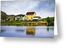 Village in Newfoundland Greeting Card by Elena Elisseeva