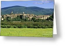 Village Of Lourmarin. Luberon. Vaucluse Greeting Card by Bernard Jaubert
