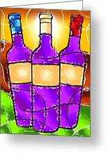 Vino Greeting Card by Stephen Younts