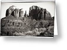 Vintage Cathedral Rock Greeting Card by John Rizzuto