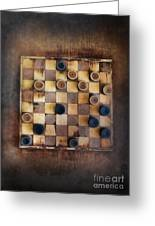 Vintage Checkers Game Greeting Card by Jill Battaglia