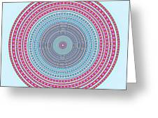 Vintage Color Circle Greeting Card by Atiketta Sangasaeng