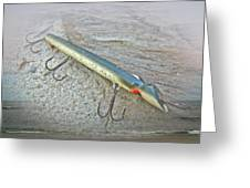 Vintage Fishing Lure - Floyd Roman Nike Lil Sandee Greeting Card by Mother Nature