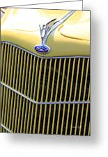 Vintage Ford V8 Grill Greeting Card by Suzanne Gaff