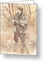 Vintage Hunting Greeting Card by Morgan Fitzsimons
