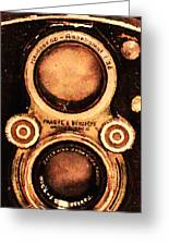 Vintage Rolleiflex Camera . Long Cut . 7d13357 Greeting Card by Wingsdomain Art and Photography