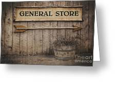 Vintage Sign General Store Greeting Card by Jane Rix