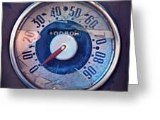 Vintage Speed Indicator Greeting Card by Priska Wettstein