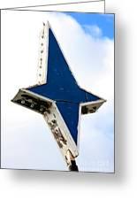 Vintage Star Sign Greeting Card by Sophie Vigneault