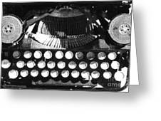 Vintage Typewriter Silk Screen Greeting Card by adSpice Studios