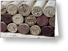 Vintage Wine Corks Greeting Card by Frank Tschakert