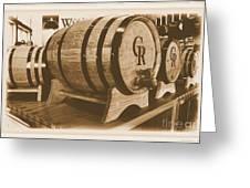 Vintage Winery Photo Greeting Card by Marsha Heiken