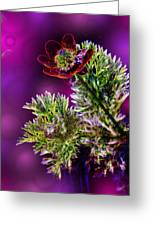 Violet Labialize Flora Greeting Card by Bill Tiepelman