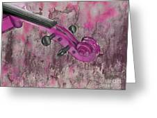 Violinelle - Pink 03b2 Greeting Card by Variance Collections