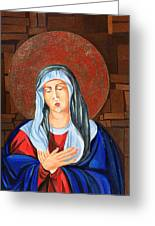 Virgin Mary Greeting Card by Claudia French