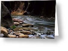 Virgin River Light Greeting Card by Bob Christopher