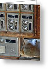 Virginia City Post Office Box Greeting Card by Bruce Gourley