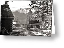 Visions From The Glass House In Boswell B.c. Greeting Card by Reb Frost