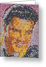 Viva Las Vegas Elvis Poker Chip Mosaic Greeting Card by Paul Van Scott