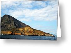 Volcanic Landscape By Coastline Greeting Card by Sami Sarkis