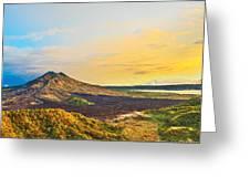Volcano Batur Greeting Card by MotHaiBaPhoto Prints