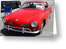 Volkswagon Karmann Ghia . 7d15470 Greeting Card by Wingsdomain Art and Photography