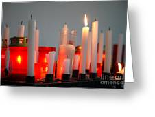 Votive Candles Greeting Card by Gaspar Avila