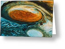 Voyagers View Of The Great Red Spot, An Greeting Card by Nasa