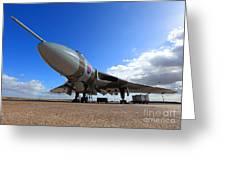 Vulcan Xh558 Greeting Card by Clare Scott