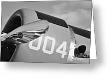 Vultee BT-13 Valiant in BW Greeting Card by Lynda Dawson-Youngclaus