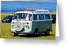 Vw Camper Greeting Card by Paul Howarth