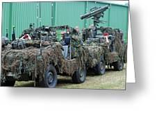 Vw Iltis Jeeps Of A Recce Scout Unit Greeting Card by Luc De Jaeger