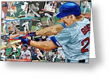 Wade Boggs Greeting Card by Michael Lee