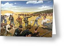 Wagon Box Fight, 1867 Greeting Card by Granger