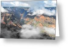 Waimea Canyon Rainbow Greeting Card by Rebecca Margraf