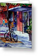 Waiting Greeting Card by Ron Stephens