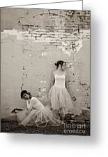 Waiting Together Greeting Card by Sherry Davis