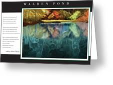 Walden Pond Greeting Card by David Glotfelty