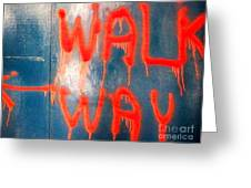 Walk Way Greeting Card by Newel Hunter