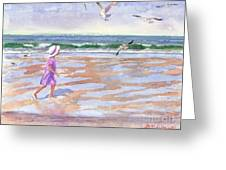 Walking The Cape Greeting Card by Laura Lee Zanghetti