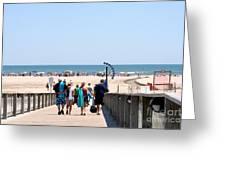 Walking To The Beach Greeting Card by Susan Stevenson