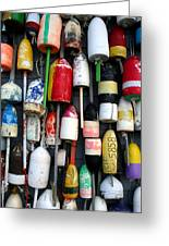 Wall Of Buoys Greeting Card by Doug Hockman Photography