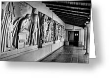 Wall Sculpture At Scripps Greeting Card by Steven Ainsworth