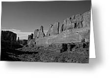 Wall Street Arches National Park Utah Greeting Card by Scott McGuire