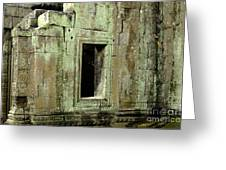 Wall Ta Prohm Greeting Card by Bob Christopher